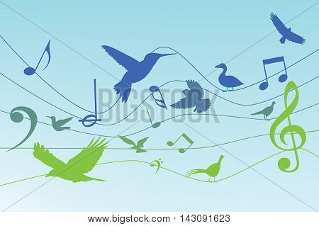 Vector - Colorful background with music notes