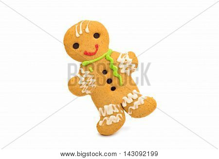 gingerbread man  christmas on a white background