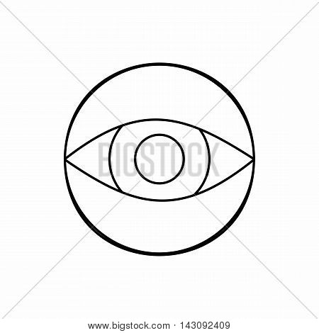 Hidden camera icon in outline style isolated on white background. Tracking symbol