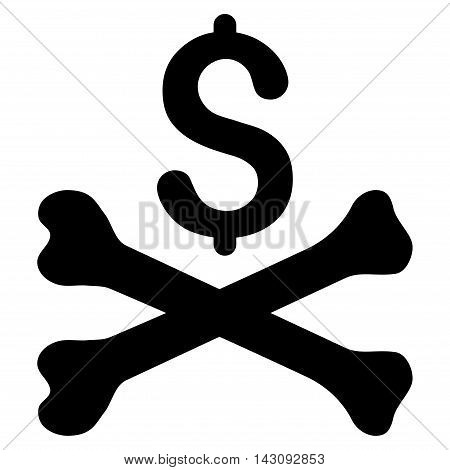 Mortal Debt icon. Vector style is flat iconic symbol with rounded angles, black color, white background.