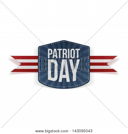 Patriot Day realistic Banner with Ribbon. Vector Illustration