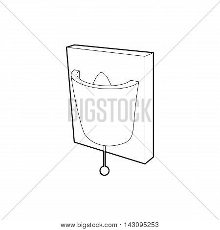 Electric wall lamp icon in outline style isolated on white background. Illumination symbol