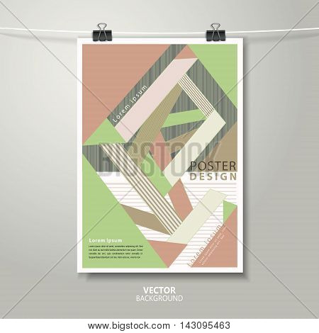Trendy Poster Template Design