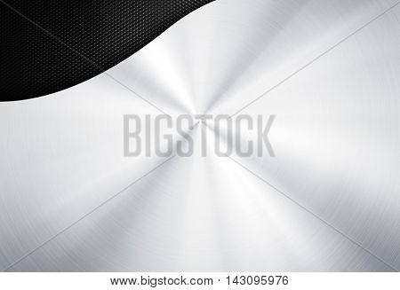 silver metal template with mesh background