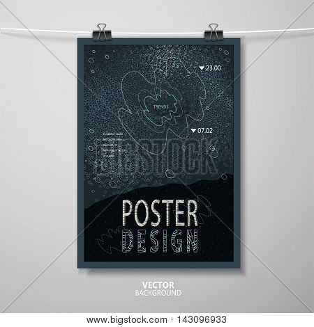 Abstract Poster Template Design