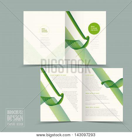 Simplicity Half-fold Brochure Template Design