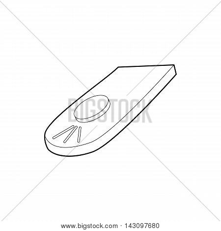 Remote control for camera icon in outline style isolated on white background. Shooting symbol