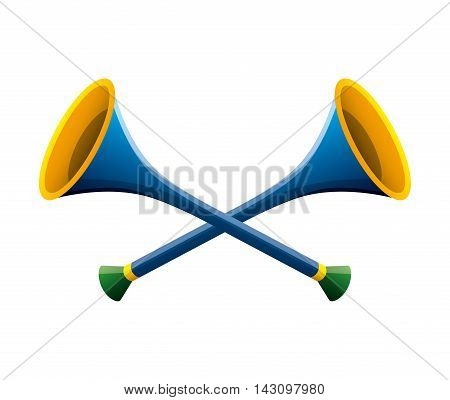 trumpet carnival isolated icon vector illustration design