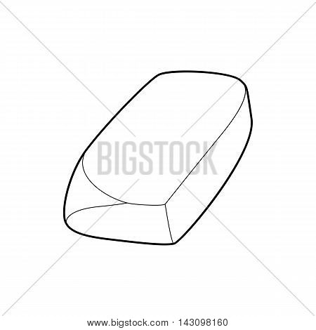 Eraser icon in outline style isolated on white background. Stationery symbol