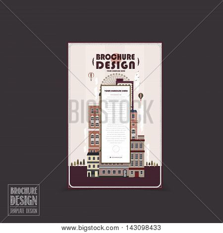 Adorable City Scenery Brochure Template