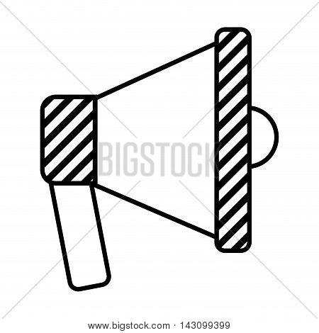megaphone sound silhouette icon vector illustration design