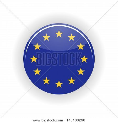 European Union icon circle isolated on white background. European Union con vector illustration