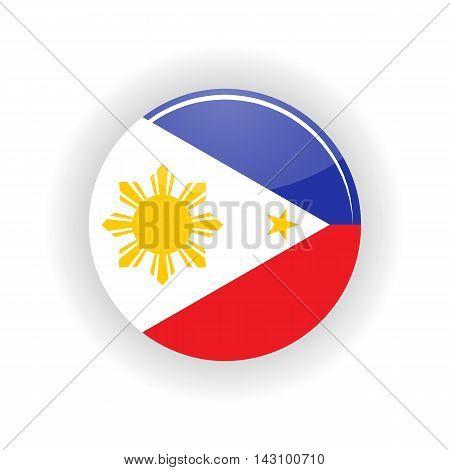 Philippines icon circle isolated on white background. Manila icon vector illustration