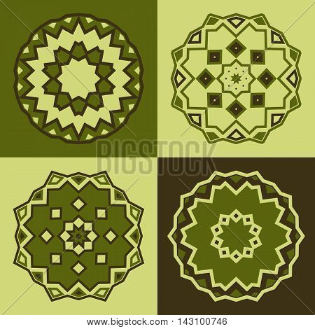 Vector Logo Design Templates And Patterns. Abstract Round Icons. Set Of Creative Circular Symbols In