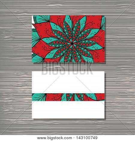 Creative template for designer photographer or studio. Vector editable pattern with front and back side visit cards.