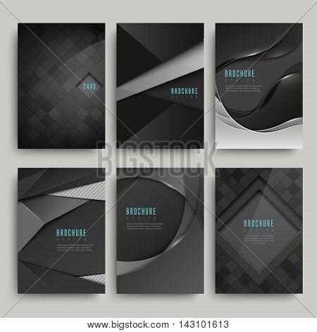 Modern Black Brochure Set