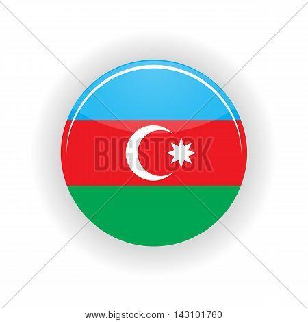 Azerbaijan icon circle isolated on white background. Baku icon vector illustration