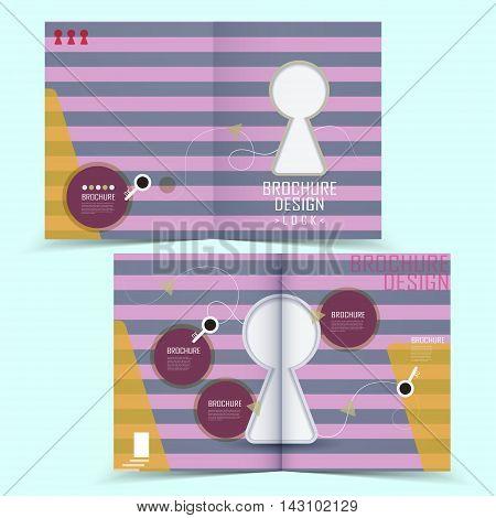 Creative Half-fold Brochure Design