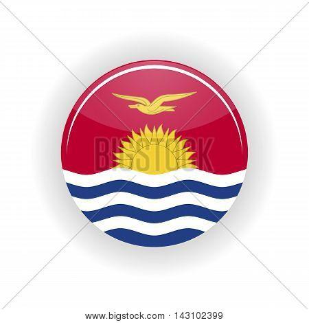Kiribati icon circle isolated on white background. South Tarawa icon vector illustration