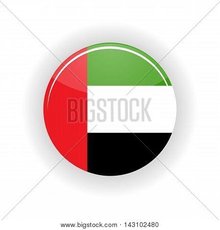 United Arab Emirates icon circle isolated on white background. Abu Dhabi icon vector illustration