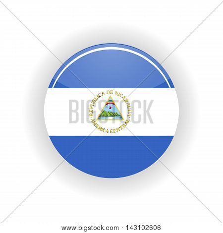 Nicaragua icon circle isolated on white background. Managua icon vector illustration
