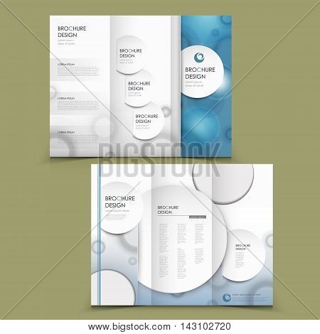 Abstract Tri-fold Brochure Design