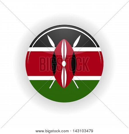 Kenya icon circle isolated on white background. Nairobi icon vector illustration