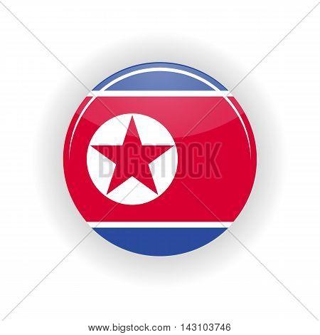 North Korea icon circle isolated on white background.Pyongyang icon vector illustration