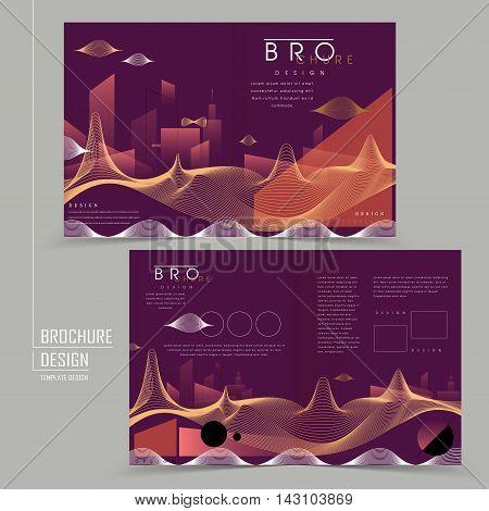 Futuristic Style Half-fold Brochure Design