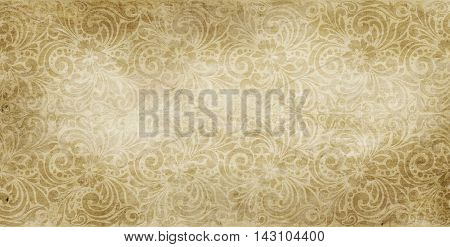Vintage paper texture with old-fashioned floral patterns.