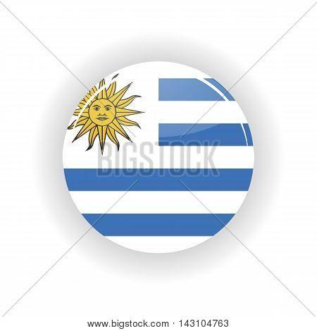 Uruguay icon circle isolated on white background. Montevideo icon vector illustration