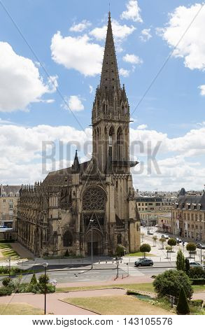 The Church of Saint Pierre is a Roman Catholic church dedicated to Saint Peter situated in the center of Caen in Normandy northern France