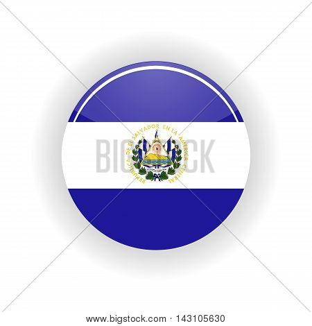 Salvador icon circle isolated on white background. San Salvador icon vector illustration