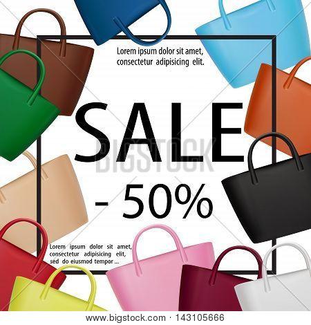 Bags Women Sale Banner Lady Fashion