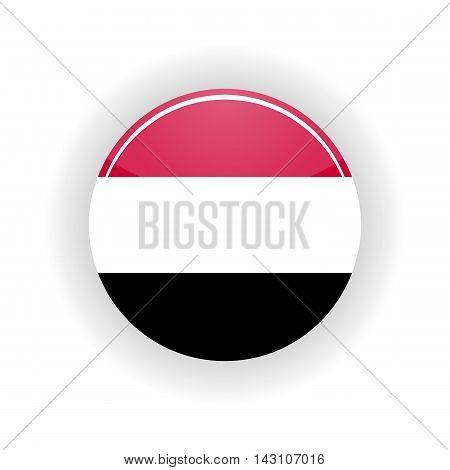Yemen icon circle isolated on white background. Sana a icon vector illustration