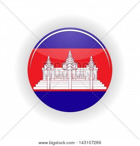 Cambodia icon circle isolated on white background. Phnom Penh icon vector illustration