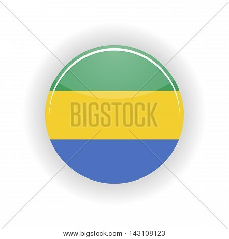 Gabon icon circle isolated on white background. Libreville icon vector illustration