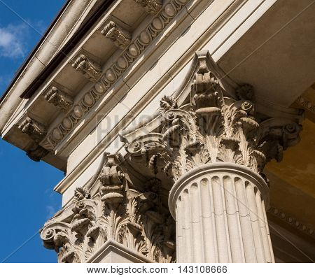 Ionian column capital architectural detail
