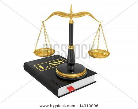 Scales On A Law Book