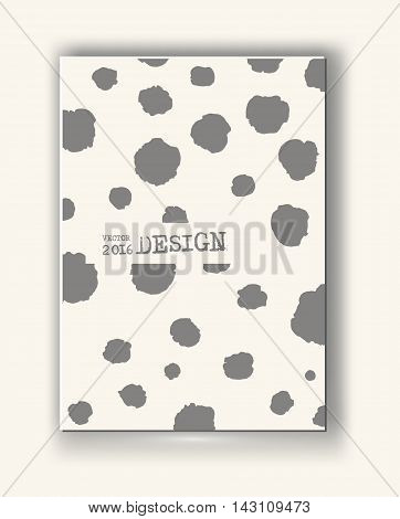 Business design templates. Abstract grunge pattern circle textures. Brochure with Monochrome Spot Backgrounds. Wallpaper with empty space for your text. Vector hand drawn illustration