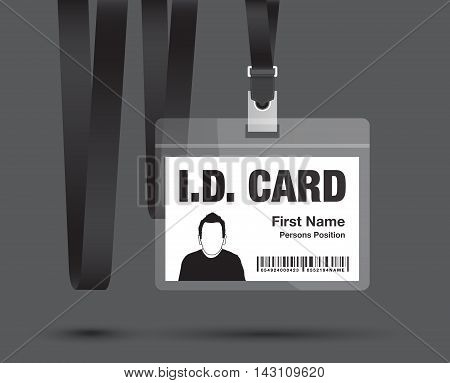 an id lanyard card man in black