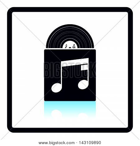 Vinyl Record In Envelope Icon