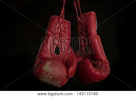 boxing gloves, the concept of retirement, Thai boxing