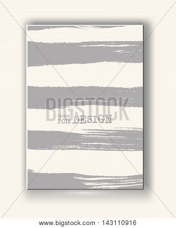 Business design templates. Abstract grunge pattern line textures. Brochure with Monochrome Strip Backgrounds. Wallpaper with empty space for your text. Vector hand drawn illustration