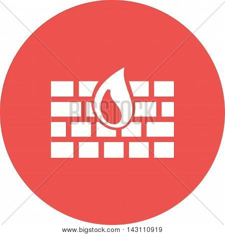 Firewall, protection, secure icon vector image.Can also be used for networking. Suitable for mobile apps, web apps and print media.