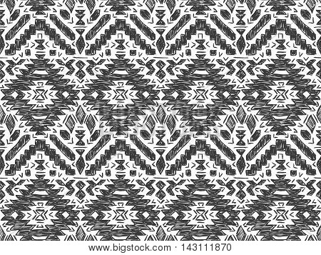 Boho Tie Dye Background Sketch Mexican Grey