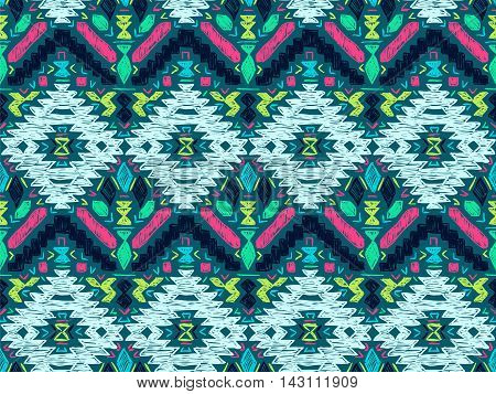 Boho Tie Dye Background Sketch Mexican Bright