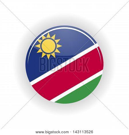 Namibia icon circle isolated on white background. Windhoek icon vector illustration