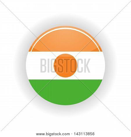 Niger icon circle isolated on white background. Niamey icon vector illustration