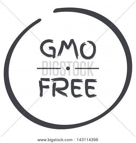 GMO Free grey circle logo symbol on white